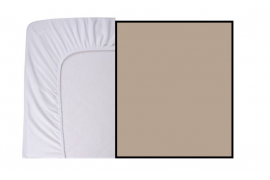 Hoeslaken Jersey 90 x 200 Taupe